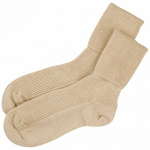calcetines cachemir beige para mujer