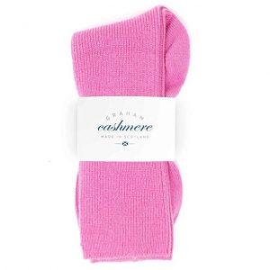 calcetines para mujer de cachemir en color rosa