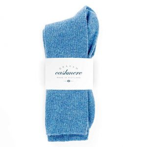 calcetines azules de cachemir para mujer