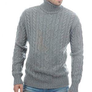 jersey caballero gris trenzado cachemir