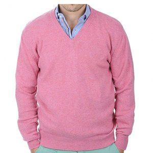 sueter cachemir hombre rosa
