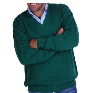 jersey-cashmere hombre color verdeverde