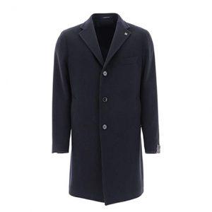 abrigo cachemir hombre azul