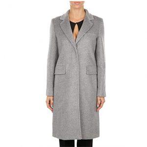 abrigo de cachemir gris largo