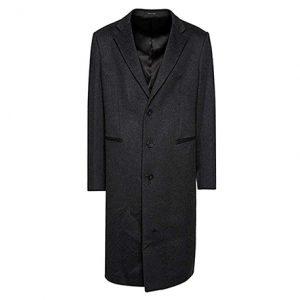 abrigo de cachemir largo hombre