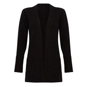 abrigo de cachimir negro mujer