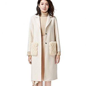 abrigo de cachemira blanco