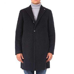 abrigo cachemir hombre azul marino