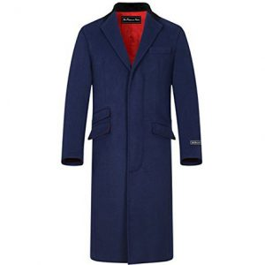 abrigo de cashmere largo hombre