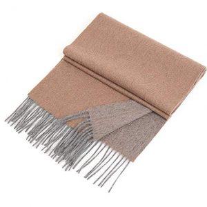 bufanda unisex de cachemir con flecos