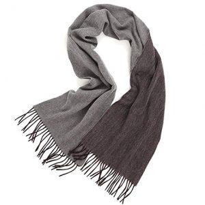 bufanda de cachemir unisex gris