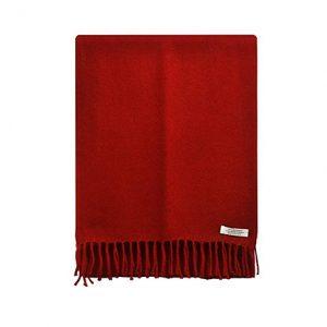 bufanda de cachemir unisex roja