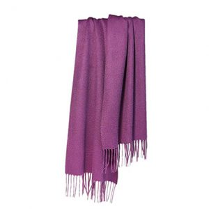 bufanda de cachemir color morado