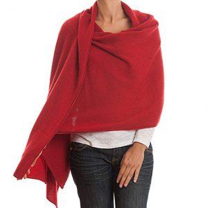 estola de mujer cachemir color rojo