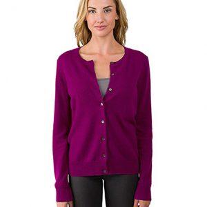 chaqueta de cachemir color morado mujer