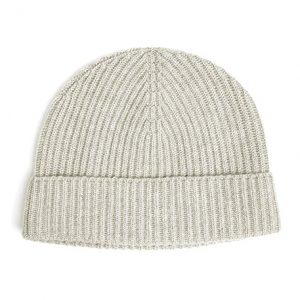 gorro de cachemir color blanco