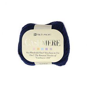 ovillo lana cashmere color azul