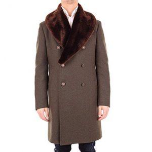 abrigo de cachemir color marrón hombre