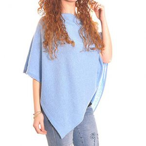 poncho de cachemir azul claro