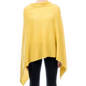 poncho cachemir color amarillo