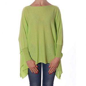poncho de cachemir color verde